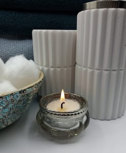 Vintage Style Glass Tea Light Holder - Shelley Louise Design