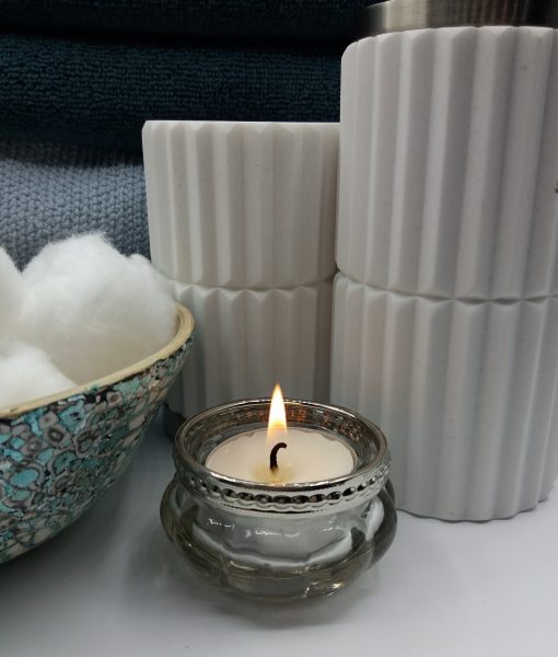 Vintage Style Glass Tea Light Holder