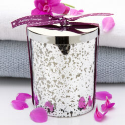 Fresh Linen Lrg Silver Candle