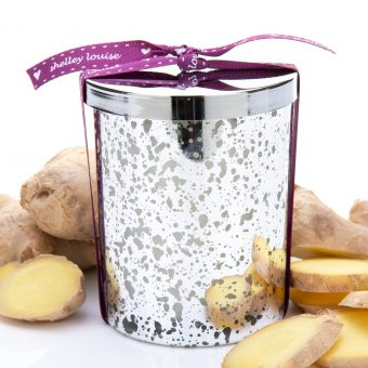 Just Ginger Lrg Glam Silver Candle