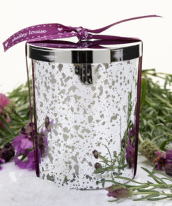 Love Lavender Large Silver Candle