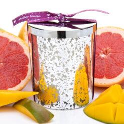Pink Grapefruit & Mango Lrg Glam Silver Candle