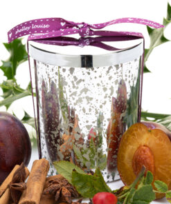 Spiced Plum Lrg Glam Silver Candle