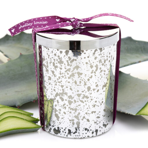 Tequila Agave Lrg Glam Silver Candle