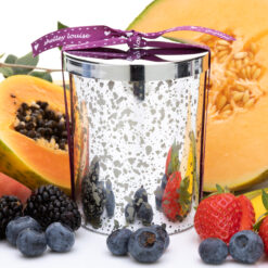 Tropican Lrg Glam Silver Candle