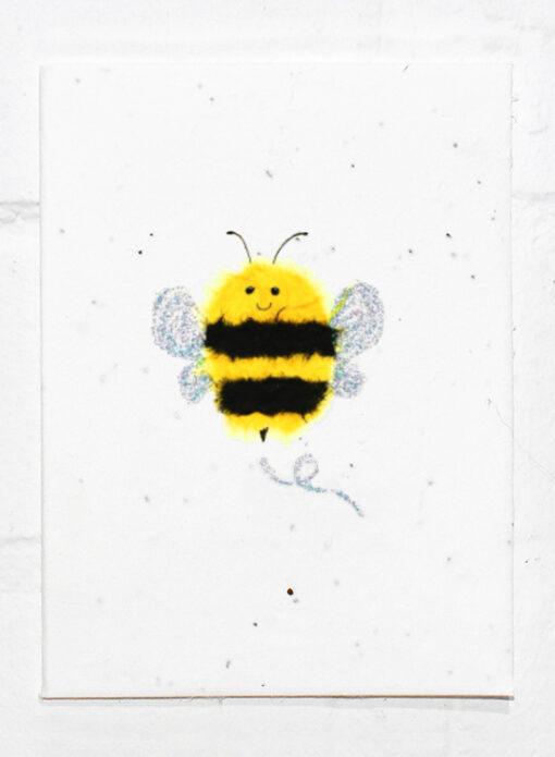 Happy Bee Greeting Eco Card