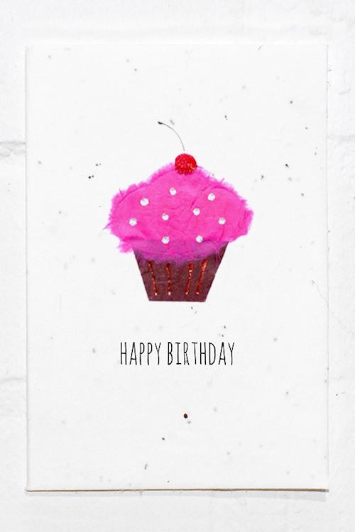 Cupcake Birthday Eco Card