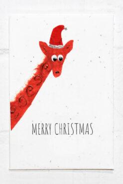 Giraffe Christmas Eco Card