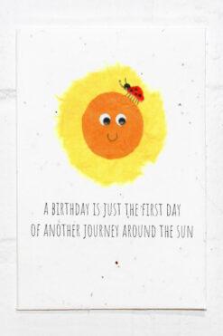 Sun Birthday Eco Card