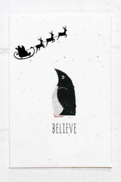 Penguin Christmas Eco Card