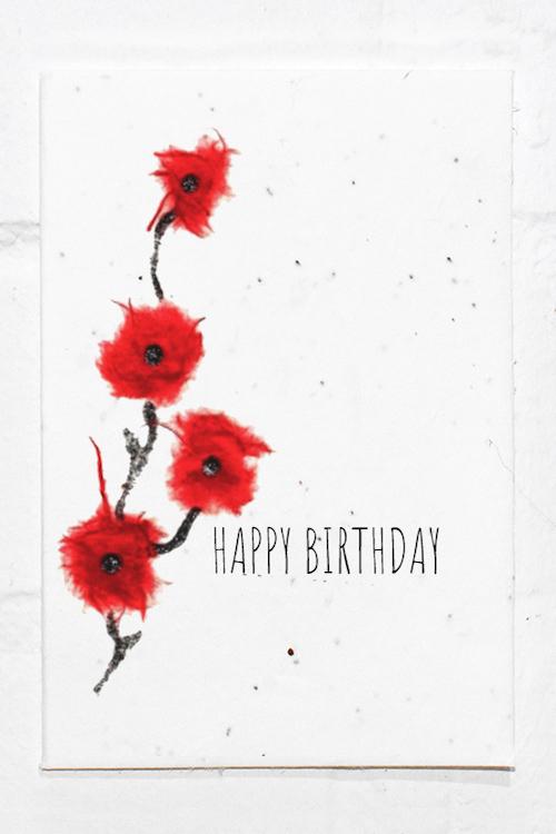 Poppy Birthday Eco Card