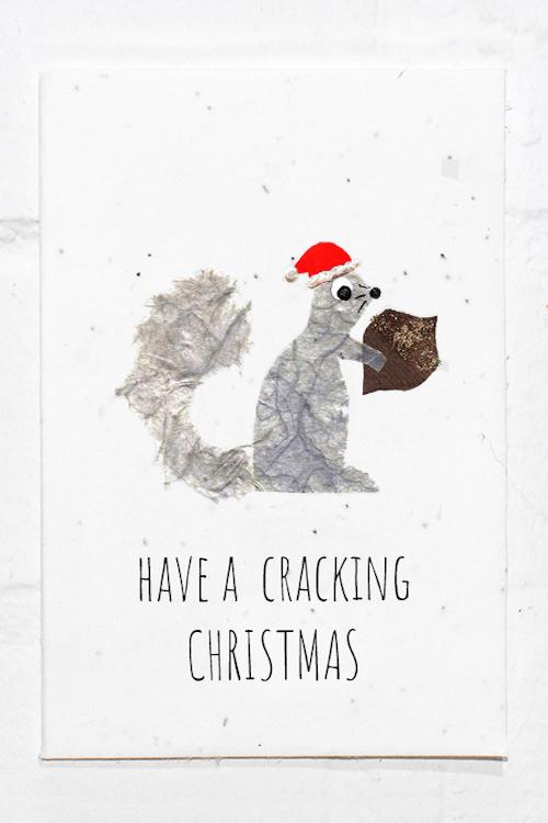 Squirrel Christmas Eco Card