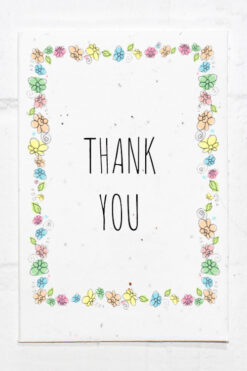 Eco Friendly Thank You Card