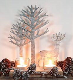 METAL STAG &TREE TEALIGHT HOLDER