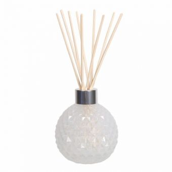 Frosted Decorative Glass Diffuser Bottle & 50 Rattan Reeds