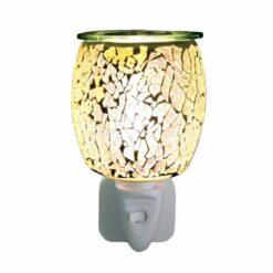 Wax Melt Burner Plug In - Silver Glass Mosaic