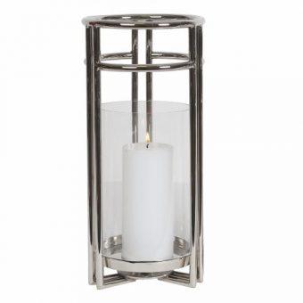 Large Round Pillar Candle Hurricane