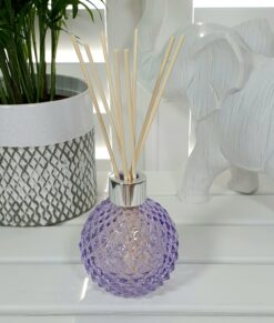 Lilac Decorative Glass Diffuser Bottle & 50 Rattan Reeds