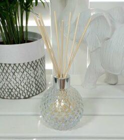 Clear Lustre Decorative Glass Diffuser Bottle & 50 Rattan Reeds