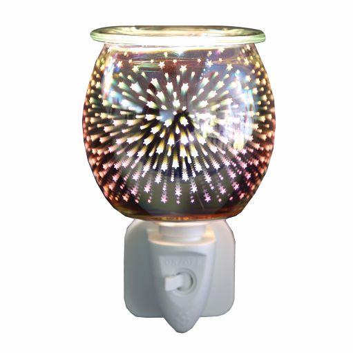 Plug-In Wax Melt Burner - 3D Glass Burst