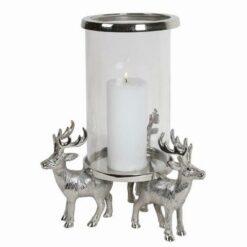 Reindeer Stag Pillar Holder 35.5cm3