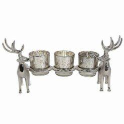 Reindeer Stag 3 Tealight Holder 30.5cm